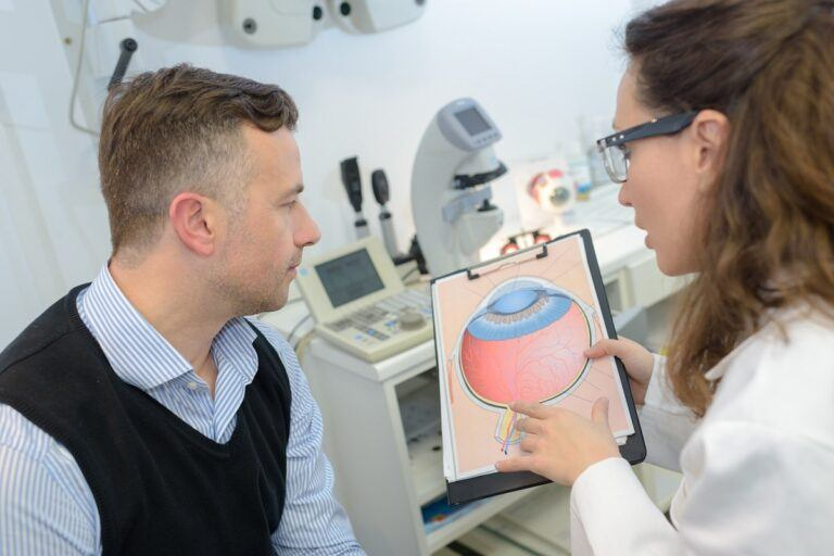 consulting ophtalmologist for examination